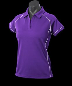 Women's Endeavour Polo - 8, Purple/White