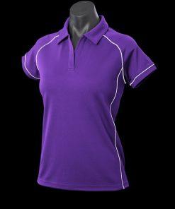 Women's Endeavour Polo - 10, Purple/White