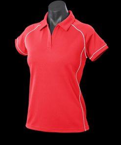 Women's Endeavour Polo - 12, Red/White