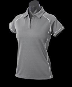 Women's Endeavour Polo - 10, Silver/White