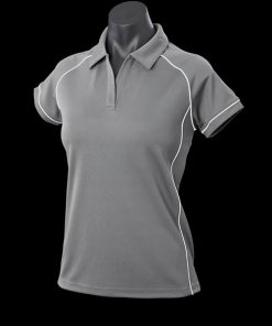 Women's Endeavour Polo - 6, Silver/White