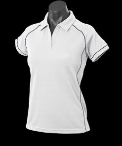 Women's Endeavour Polo - 8, White/Navy