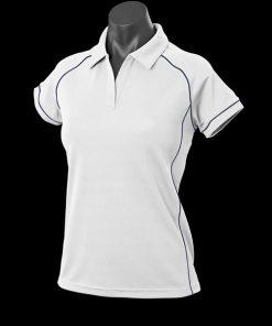 Women's Endeavour Polo - 14, White/Navy