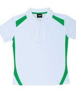 Women's Cool Sports Polo - 12, White/Emerald Green