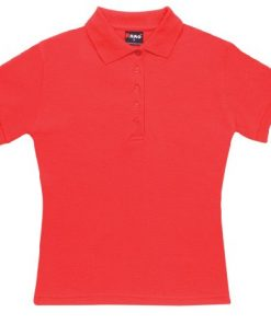 Women's Pique Polo - 12, Red