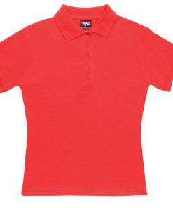 Women's Pique Polo - 14, Red