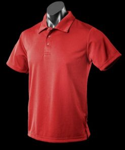 Kids' Botany Polo - 4, Red
