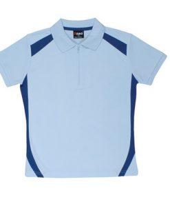 Women's Cool Sports Polo - 14, Sky/Ocean Blue