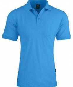 Men's Claremont Polo - XL, Cyan