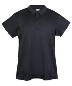 Mens Poly Sports Polo - Black