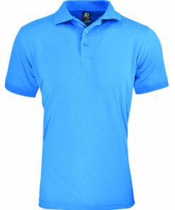 Men's Lachlan Polo - XL, Cyan