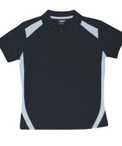 Kids' Cool Sports Polo - 8, Black/Grey