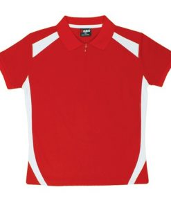Women's Cool Sports Polo - 14, Red/White