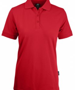 Women's Claremont Polo - 18, Red