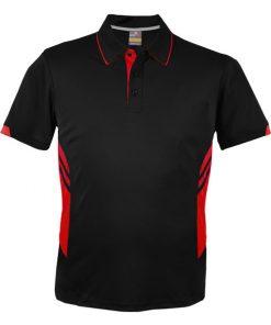 Kid's Tasman Polo - 4, Black/Red