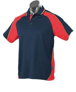 Kid's Panorama Polo - 10, Navy/Red/Gold