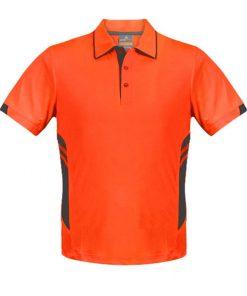 Kid's Tasman Polo - 10, Neon Orange/Slate