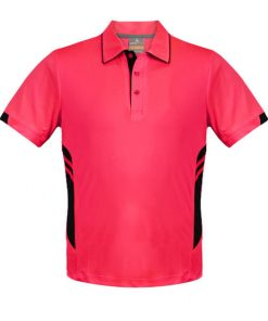 Kid's Tasman Polo - 14, Neon Pink/Black