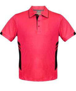Kid's Tasman Polo - 6, Neon Pink/Black