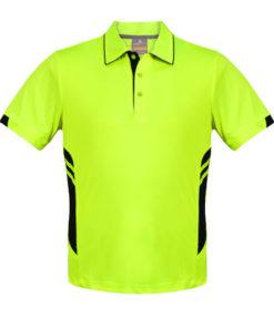 Kid's Tasman Polo - 14, Neon Yellow/Black