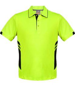 Kid's Tasman Polo - 4, Neon Yellow/Black