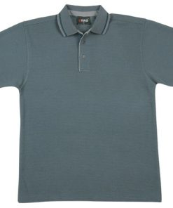Men's Pineapple Knit Polo - M, Teal