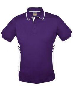 Kid's Tasman Polo - 4, Purple/White