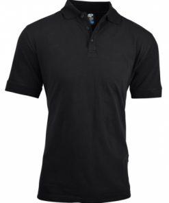 Men's Claremont Polo - 5XL, Black