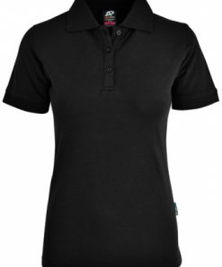 Women's Claremont Polo - 12, Black