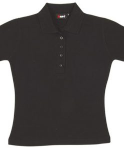 Women's Pique Polo - 16, Black