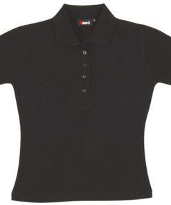 Women's Pique Polo - 10, Black