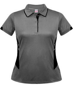 Women's Tasman Polo - 4, Ashe/Black