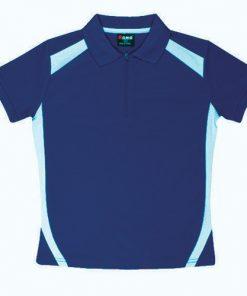 Kids' Cool Sports Polo - 10, Ocean Blue/Sky
