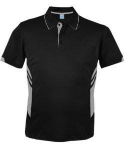 Men's Tasman Polo - S, Black/Ashe
