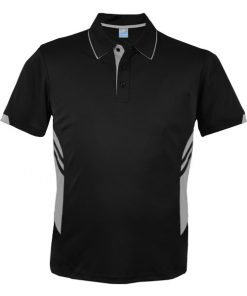 Men's Tasman Polo - L, Black/Ashe