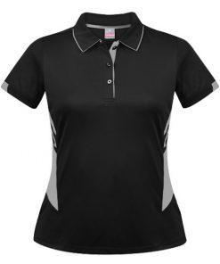 Women's Tasman Polo - 4, Black/Ashe