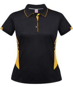 Women's Tasman Polo - 12, Black/Gold