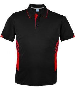 Men's Tasman Polo - L, Black/Red