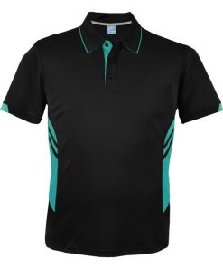 Men's Tasman Polo - S, Black/Teal