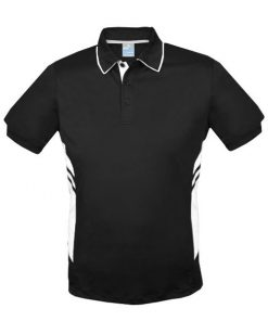 Men's Tasman Polo - 3XL, Black/White