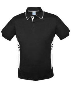 Men's Tasman Polo - L, Black/White