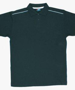 Men's Single Piping Polo - XL, Black/White