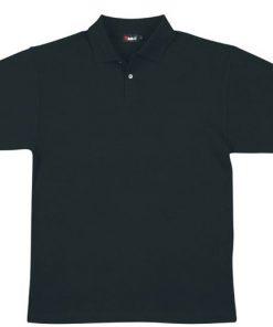 Men's Pique Polo - 3XL, Black
