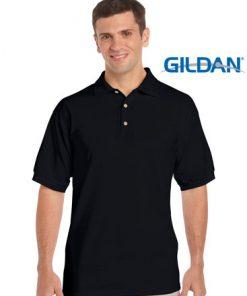 Men's Ultra Cotton Adult Jersey Sport Polo - M, Black