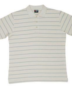 Men's Golf Polo - M, Bone/Blue