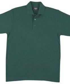 Men's Jersey Polo - M, Bottle Green