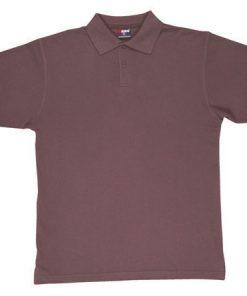 Men's Pastel Polo - L, Brown