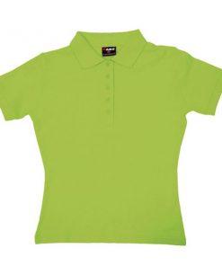 Women's Pastel Polo - 10, Lime