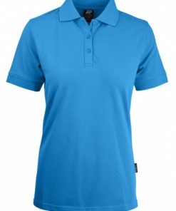 Women's Claremont Polo - 6, Cyan
