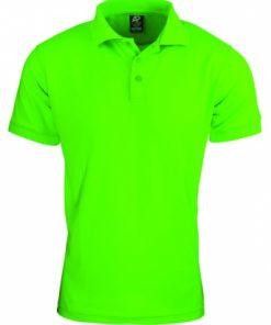 Men's Lachlan Polo - L, Neon Green